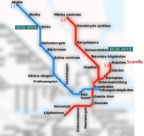 Stockholm Metro Lines: Red and Blue